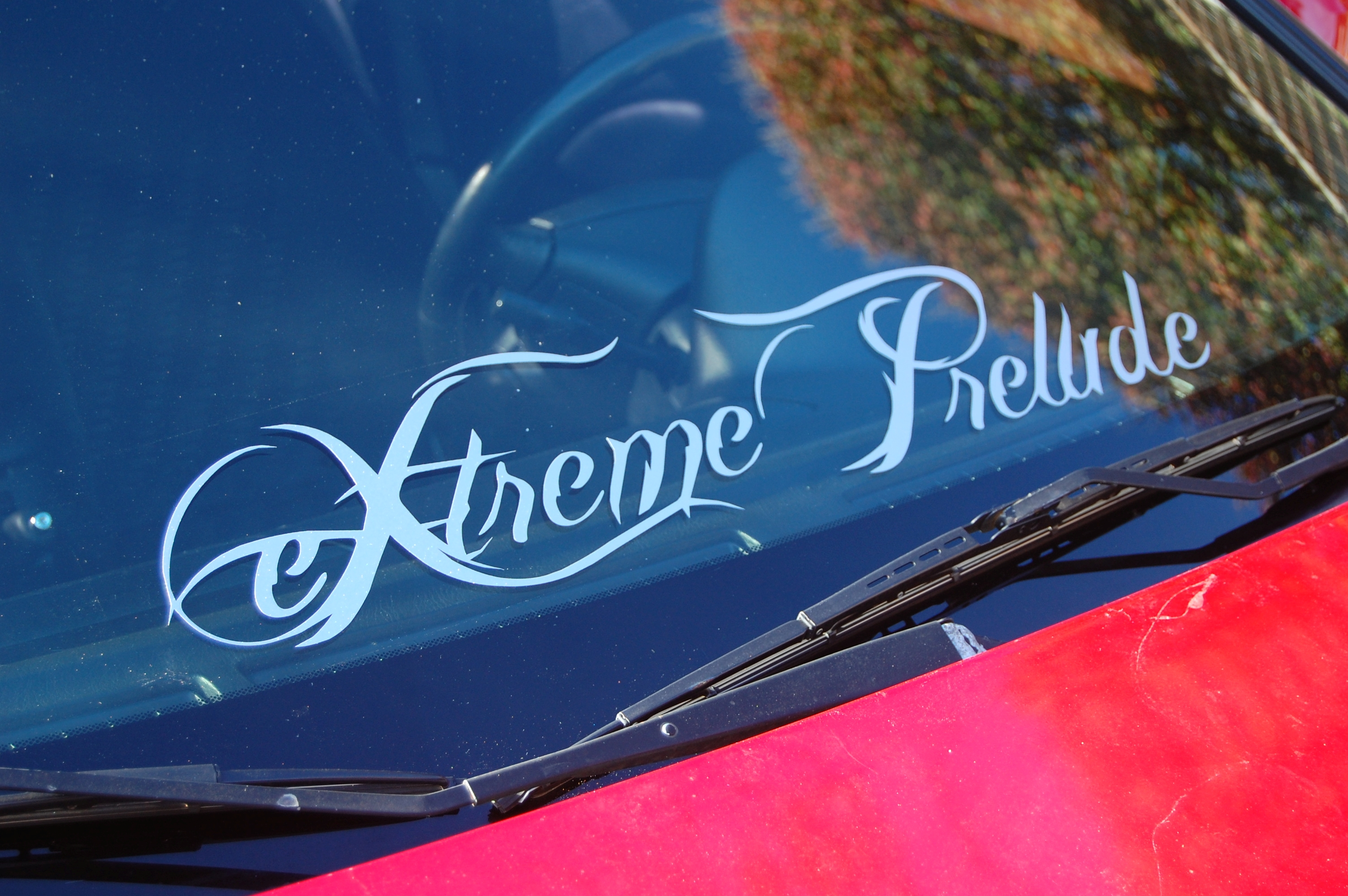 Custom Windshield Decal Giveaway EXtremePrelude Blog - Car windshield decals customcustom window decals