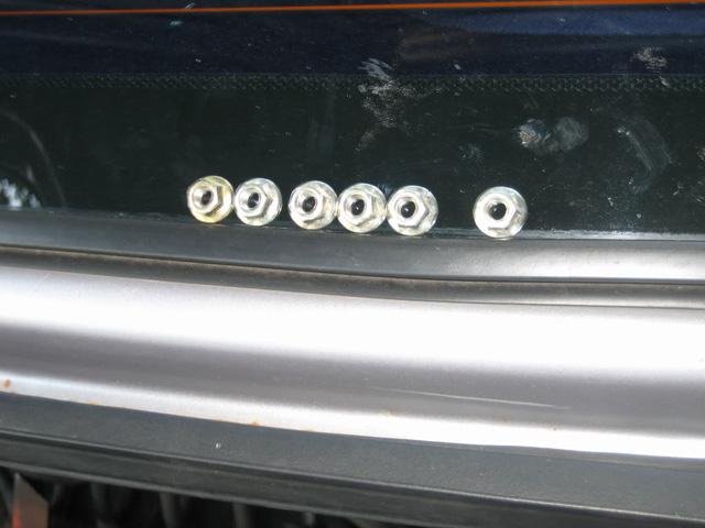taillight nuts