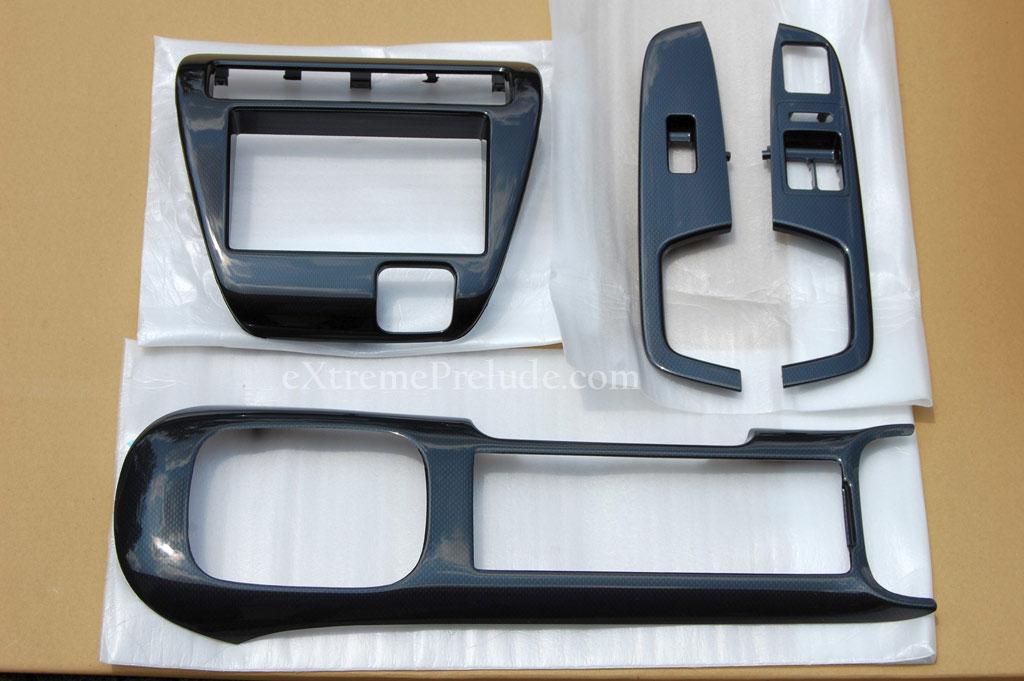 Oem honda prelude carbon fiber dash trim kit 1997 2001 bb6 for 1997 honda civic window trim