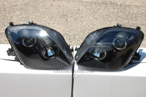 Black Housing Projector Headlights - New