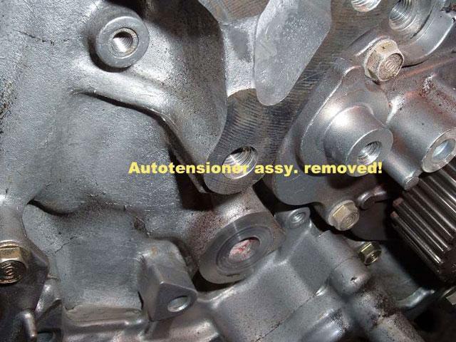 auto tensioner removed
