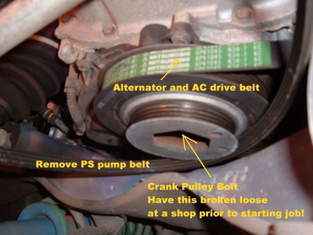 remove power steering belt