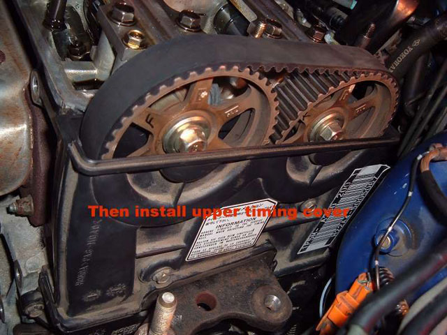 install upper timing cover