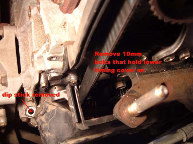 remove lower timing cover