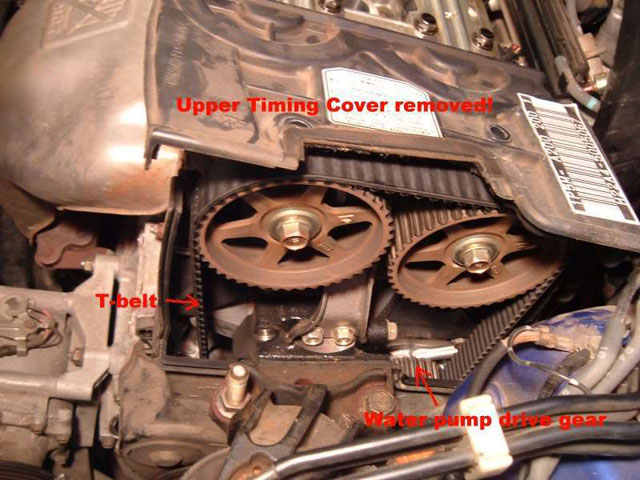 upper timing cover removed