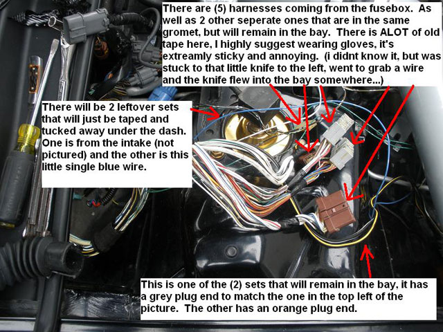 How to: Engine Wire Tuck - eXtremePrelude.com Honda Civic Fuse Box Relocation on