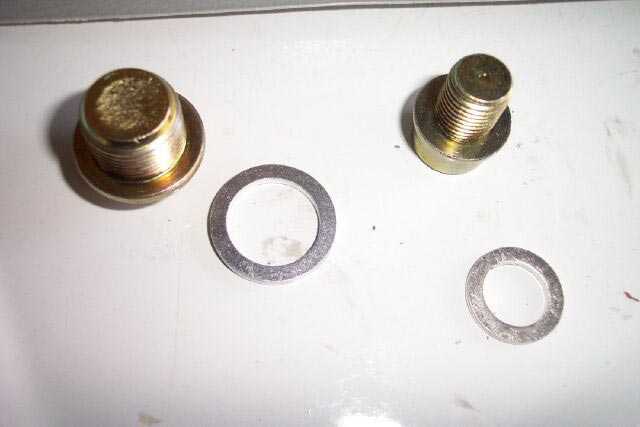 drain and fill bolts